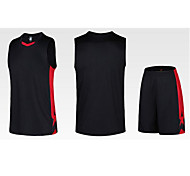Sports Men's Sleeveless Exercise & Fitness / Leisure Sports / Badminton / Basketball / Running Clothing Sets/Suits Baggy ShortsBreathable