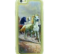 Para Antigolpes Funda Cubierta Trasera Funda Animal Suave Cuero Sintético Apple iPhone 6s/6