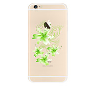 Green flowers Pattern TPU Soft Case Cover for Apple iPhone 7 7 Plus iPhone 6 6 Plus iPhone 5 SE 5C iPhone 4