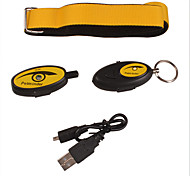Cat / Dog GPS Collar Electronic/Electric / Rechargeable / Wireless / GPS / Batteries Included Solid / Geometic Black / Yellow Plastic