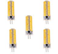 7W G4 LED-maïslampen T 80 SMD 5730 500-700 lm Warm wit / Koel wit Dimbaar / Decoratief V 5 stuks