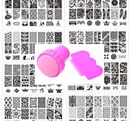 10шт Nail Art печать шаблонов для ногтей кружева pattren дать 1 комплект инструмента 12x6cm печать
