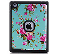 Flower Pattern Colour Printing Water/Dirt/Shock Proof Waterproof Three in One IMD Cover Case for iPad2 iPad3 iPad4
