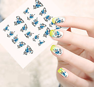 1pcs  Water Transfer Nail Art Stickers Girl's Hand Feather Butterfly Nail Art Design STZ10-15