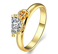 Ringe Kubikzirkonia Normal Schmuck vergoldet Rose Gold überzogen Damen Ring 1 Stück,7 8 Goldfarben Rotgold