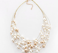 MPL Ruili fashion chain and multilayer Pearl Necklace