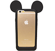 iPhone 7 Plus Cute 3D Cartoon Lovely Mouse Ear Soft Silicone Gel Bumper for iPhone 6s 6 Plus