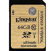 Kingston 64GB Tarjeta SD tarjeta de memoria UHS-I U1 Clase 10 ultimate