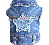 Dog Denim Jacket/Jeans Jacket Blue Dog Clothes Winter Spring/Fall Jeans Cowboy Fashion