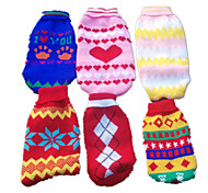 Dog Sweater Dog Clothes Cute Casual/Daily Geometic Random Color
