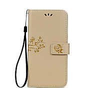 For Motorola Moto G4 Plus Moto G4 Moto Z Card Holder Wallet with Stand Flip Embossed Case Full Body Case Flower Hard PU Leather Moto E3 Moto Z Force