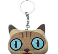 Key Chain Cat Key Chain Brown Cotton