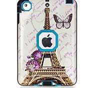 Eiffel Tower Pattern Colour Printing Water/Dirt/Shock Proof Waterproof Three in One IMD Cover Case for iPad mini 1/2/3