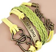 Bracelet Bangles Alloy Love Handmade Birthday / Daily Jewelry Gift Yellow,1pc