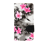 For Samsung Galaxy A5 (2016) A3 (2016) Case Cover Flowers PU Leather Mobile Phone Holster