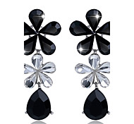 Women's Drop Earrings Rhinestone Crystal Cross Jewelry For Wedding Party Daily