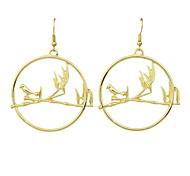 Imitation Gemstone Round Earrings