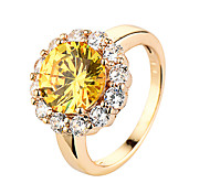 New Hot Fashion  Jewelry Lady Creative Gold Inlaid CZ Ring Golden Accessories 95142