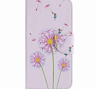 For Google Pixel XL Pixel Case Cover Pink Dandelion Painted PU Phone Case