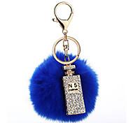 Key Chain Sphere Key Chain / Diamond Navy Blue Metal / Plush