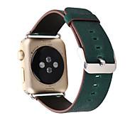 luxuriösen Lederband Band Edelstahlschließe Adapter Gürtel für 38mm 42mm Apfel Uhr