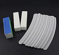 13pçs / conjunto lixar arquivos de arte bloco amortecedor do prego ferramentas salão de manicure pedicure conjunto de gel uv