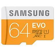 SAMSUNG Micro SD Memory Card 64GB MicroSD Cards SDHC SDXC Max 48M/s EVO C10 TF