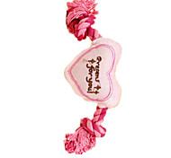 Dog Toy Pet Toys Plush Toy Heart Pink Sponge