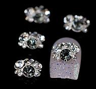 10pcs Rhinestone Group Glitter Grey DIY Alloy Accessories Nail Art Decoration
