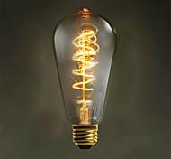 e27 40w 500lm 3000-3500k st64 лампа накаливания с сердечником из вольфрамового сердечника (ac 220-240v)