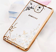 For Samsung Galaxy Note Plating / Transparent / Pattern Case Back Cover Case Flower TPU Samsung Note 5 / Note 4 / Note 3