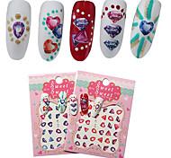 2 Patterns/Sheet Cute Flower Nail Art Water Decals Transfer Sticker BORN PRETTY