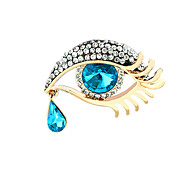 Women Jewelry Alloy Blue Brooches 1ps