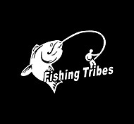 Funny Fishing Tribes Car Sticker Car Window Wall Decal Car Styling (1pcs)