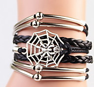 Women's Wrap Bracelet Handmade Leather Animal Shape Jewelry For Halloween