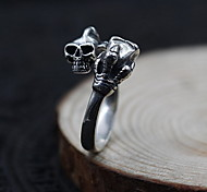 Ring Jewelry Sterling Silver Skull / Skeleton Punk Silver Jewelry Daily Casual 1pc