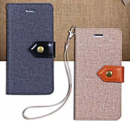 For Apple iphone7 iphone7 Plus iphone6s iphone6s Plus iphone6 iphone6 Plus The Canvas Cloth Pattern PU Leather Case
