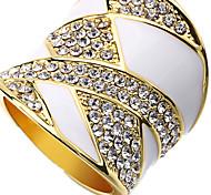 Ringe Normal Schmuck Aleación Damen Ring 1 Stück,Verstellbar Weiß