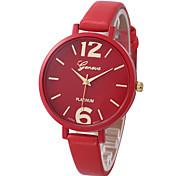 Women's Fashion Casual Wrist Watch Generva Quartz Watch Ladies Top Brand Special Thin Pu Leather Band