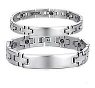 Paar Ketten- & Glieder-Armbänder Stahl Kreuzform Schmuck Silber Schmuck Für Normal 1 Stück