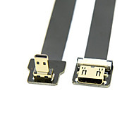 Cy® HDMI Micro-Mini HDMI vergoldet Adapter 1080P 0,5m (1.5ft)