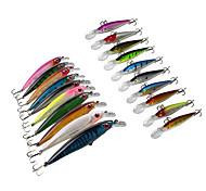 Lot 20 pcs Hard Bait / Swimbaits / Minnow / Fishing Hooks / Fishing Lures Hard Bait / Minnow / Lure Packs Assorted Colors 13.5 & 10.5 g