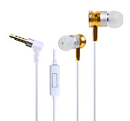HUAST HST-51 Stereo HeadPhone In Ear Earphone Metal Handsfree Headset with Mic 3.5mm Earbuds For All Phone MP3 Player