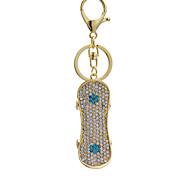 Fashion style skateboard diamond key buckle bag lady lovely creative decoration