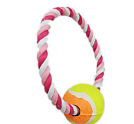 Cat Toy Dog Toy Pet Toys Interactive Rope Pink Textile