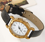Women's Wrist watch Casual Watch Quartz Leather Band Casual Black White Blue Red Brown Strap Watch