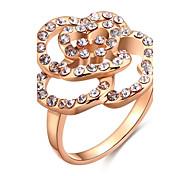 Ringe Kubikzirkonia Alltag Normal Schmuck Aleación Zirkon Rose Gold überzogen Damen Ring 1 Stück,8 Rotgold