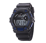 Men's Sport Watch Wrist watch Digital Silicone Band Black Brand
