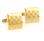Gold Fashion Cufflinks Men Gold 1pc