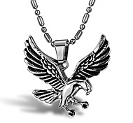 Men's Punk Style Pendant Charm Necklace 316L Stainless Steel Retro Sculpture Eagle Shape Jewelry